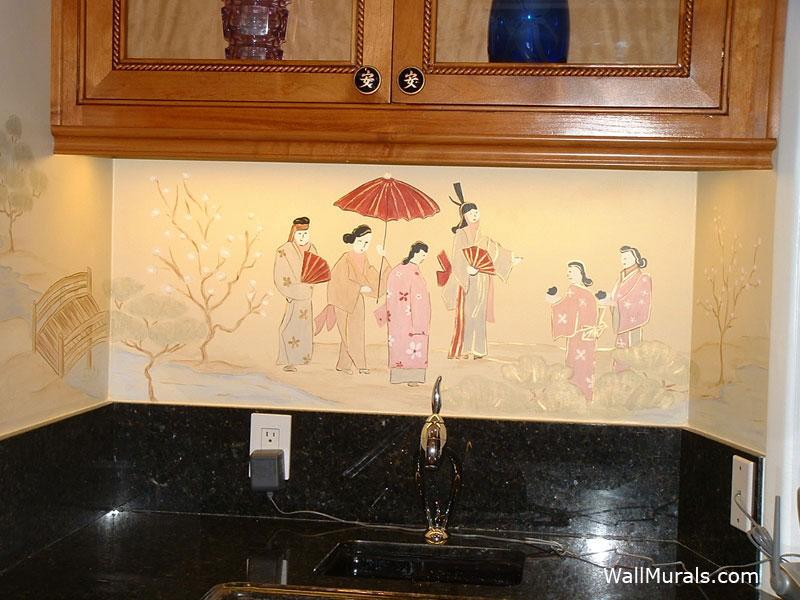 Japanese Mural in Bar