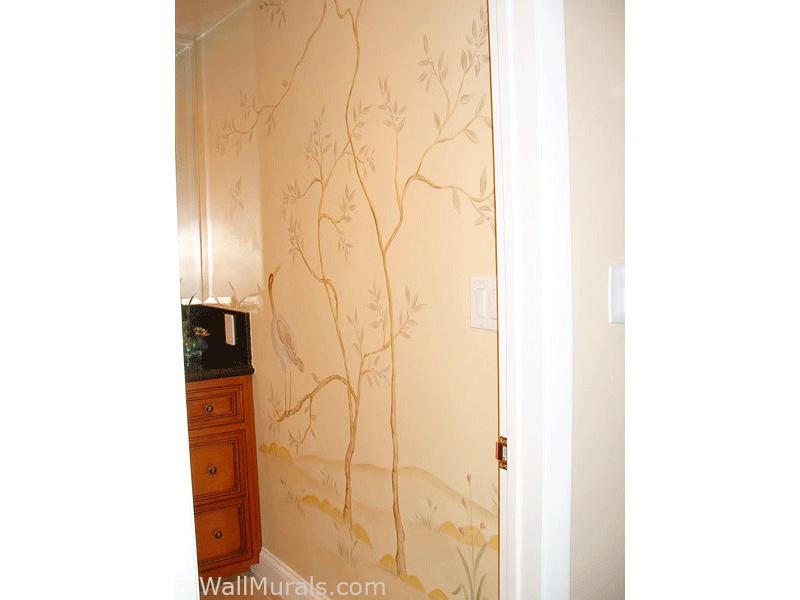 Japanese Mural in Bathroom