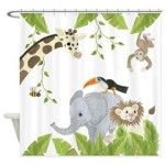Jungle Animal Shower Curtain