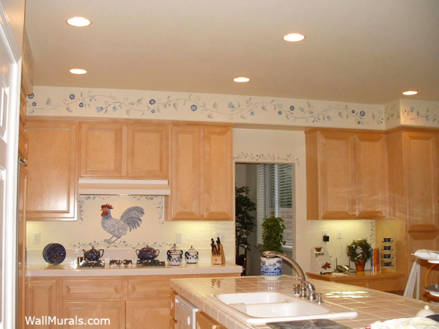Hand-Painted Kitchen Border