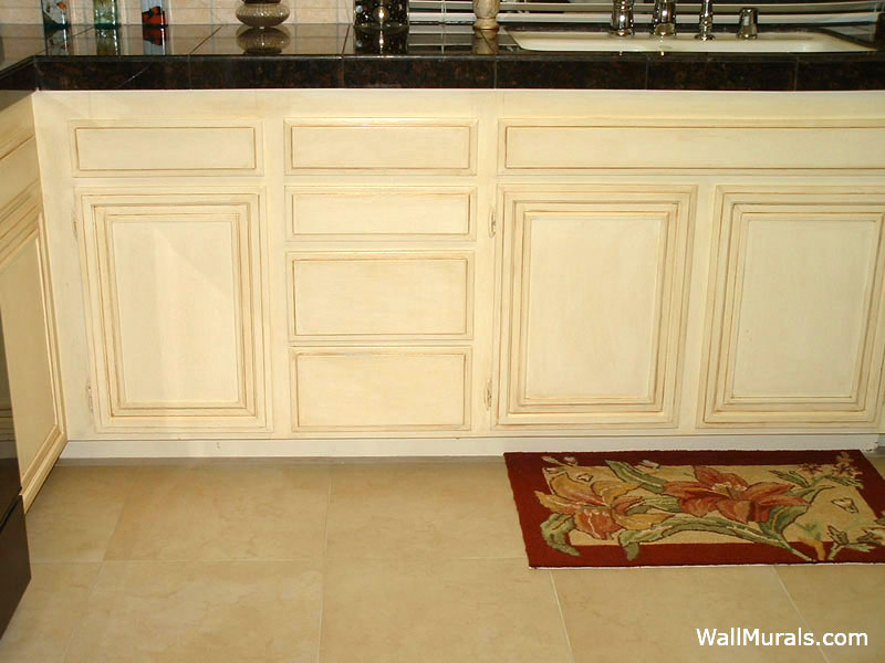 Rubbed Kitchen Cabinets