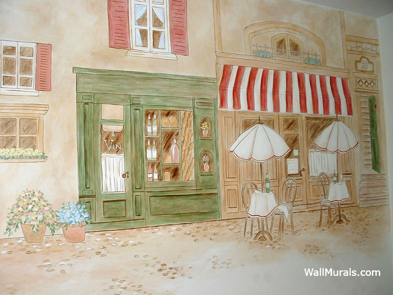 Cafe Mural in Kitchen