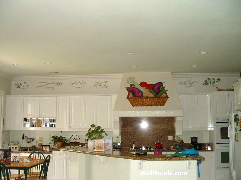 Painted Herb Border in Kitchen