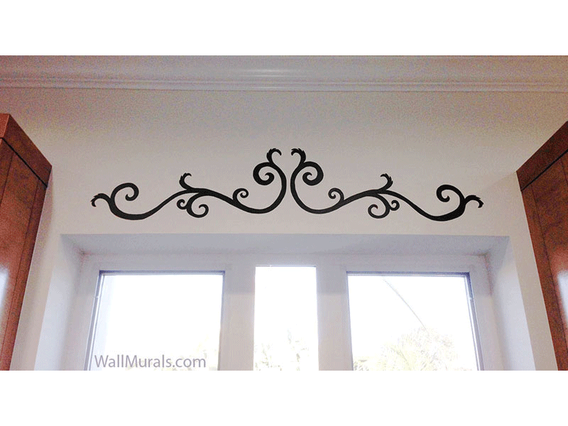 Painted Scroll Design over Window