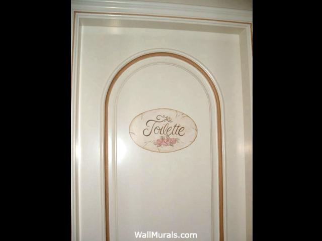 La Toilette - Sign Painted on Bathroom Door