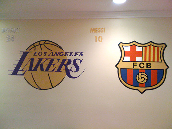 Lakers - Barcelona - Painted Sports Logos