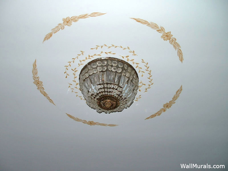 Painted Ceiling around Light Fixture