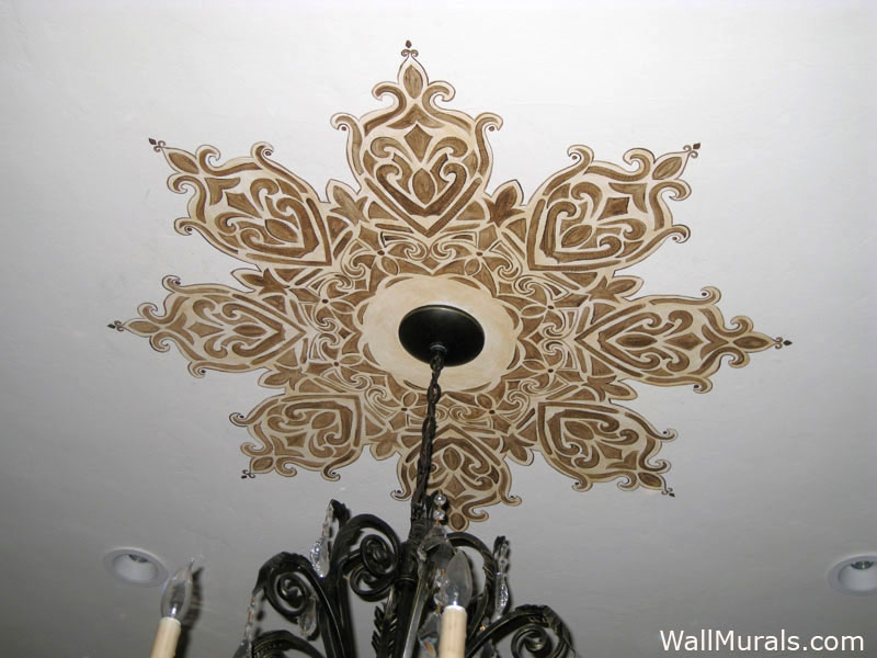 Hand-Painted Ceiling Medallion