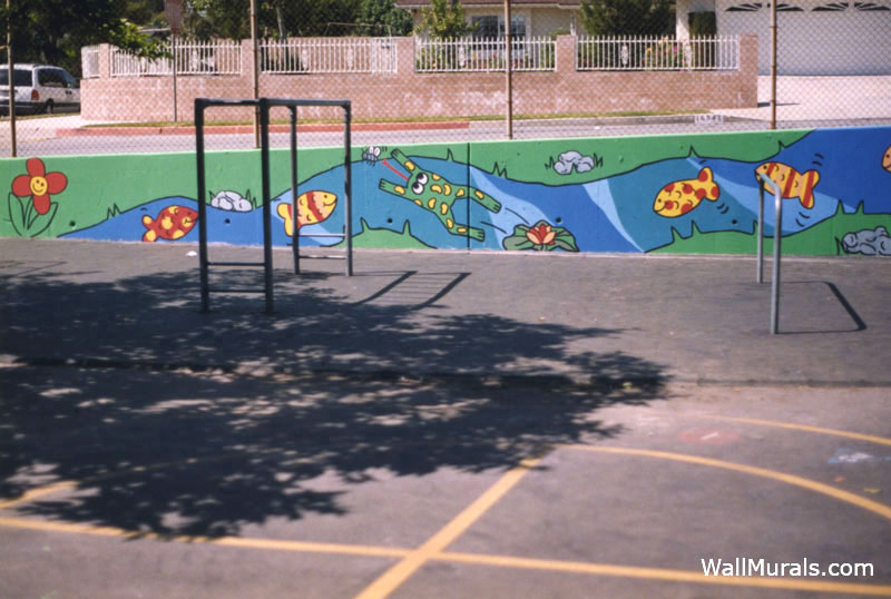 Outside Painted Cement Wall At School Part 61