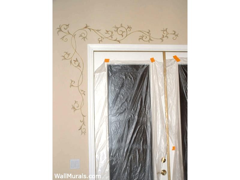 Painted Accents over Doors in Master Bedroom
