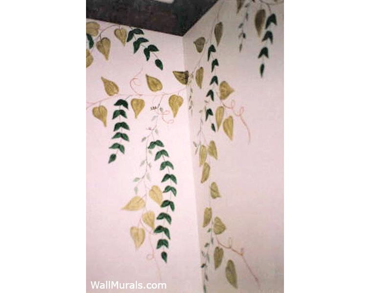 Painted Vines in Bathroom