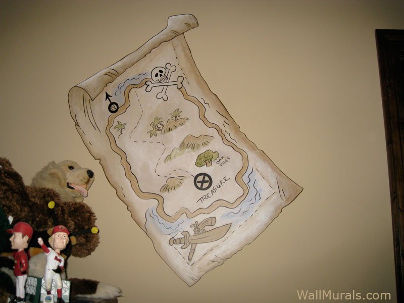 Pirate Themed Mural - Treasure Map