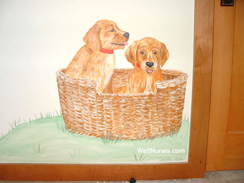 Puppy Wall Mural
