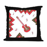 Guitar - Music Throw Pillow