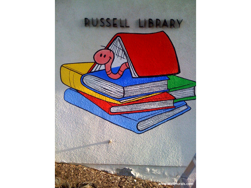 Wall Mural Painted On Exterior Of Library Part 77