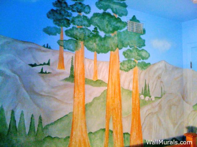 Sequoias at Yosemite Park - Wall Mural