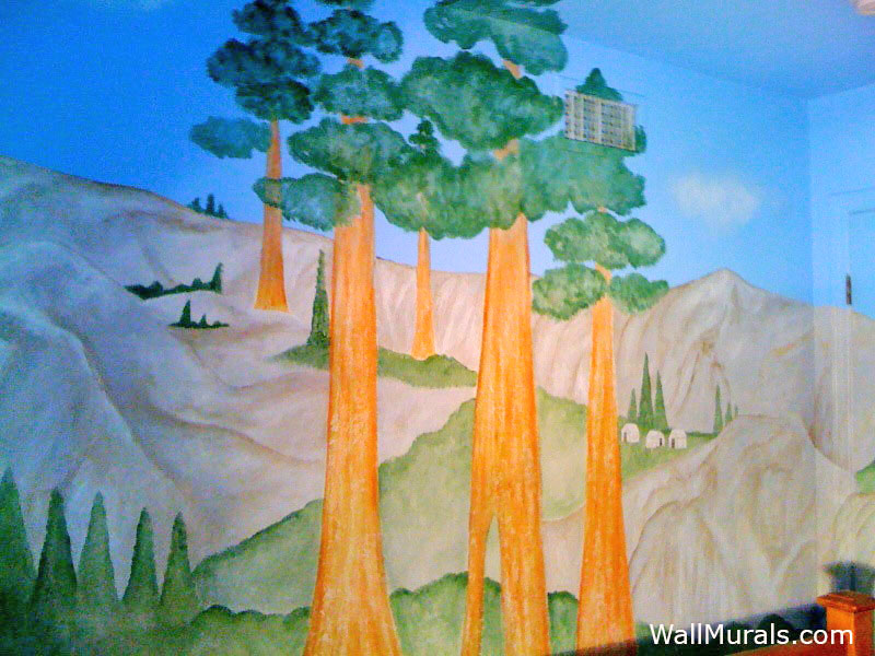 Sequoias at Yosemite Park - Wall Mural