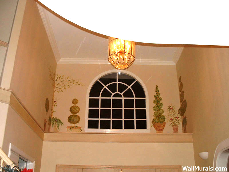 Painted Entry Wall Mural