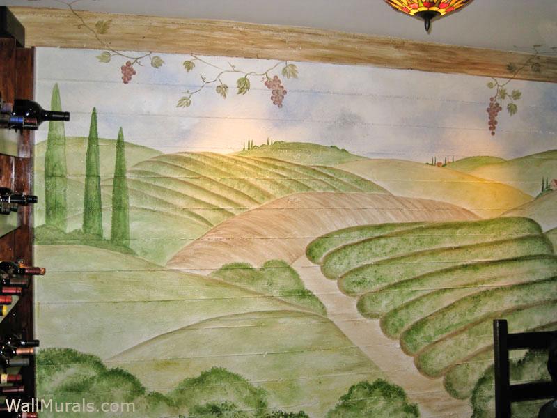 Wine Cellar Vineyard Mural