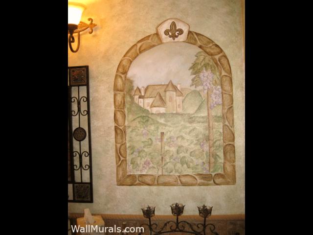 Window Mural of Vineyard