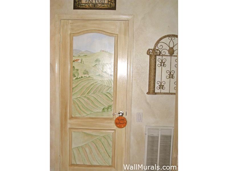 Wine Theme Painted Door