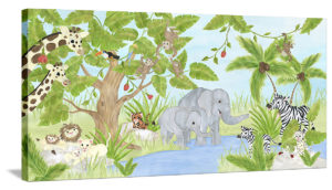 Welcome to MY Jungle - Canvas Wall Art