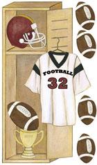 Football Locker Wall Decals