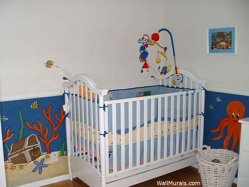 Undersea Mural in Nursery
