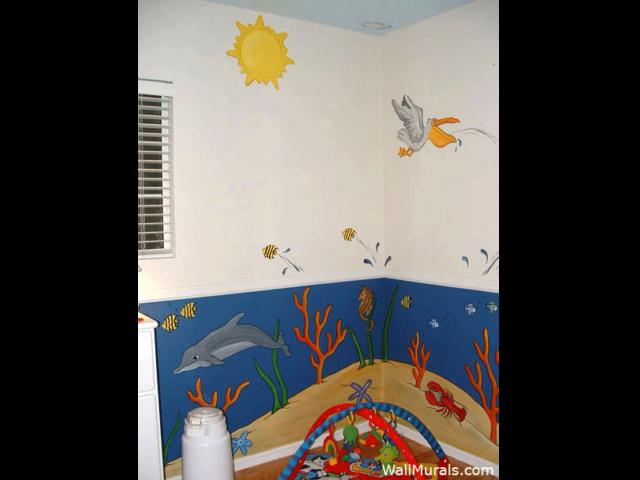 Undersea Baby Room Mural