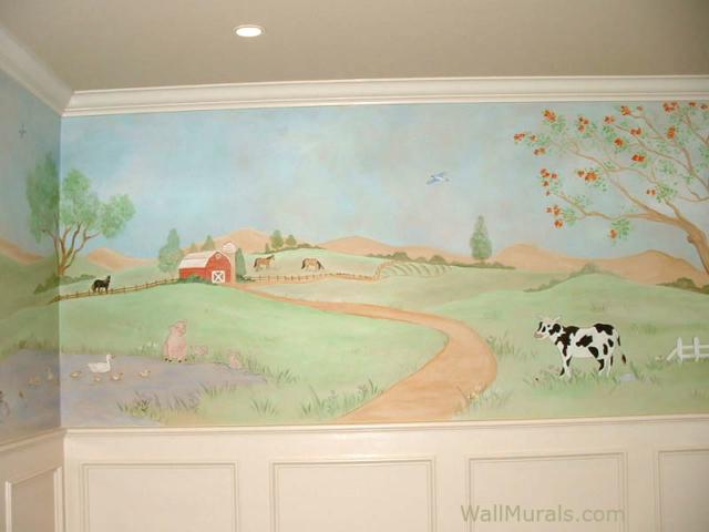 Farm Wall Mural in Nursery