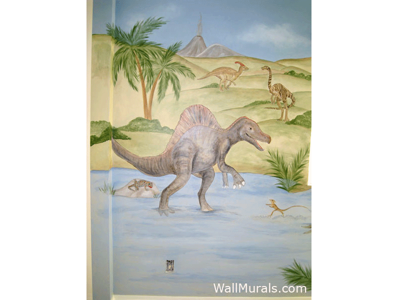 Dinosaur Wall Mural - Boys Bedroom