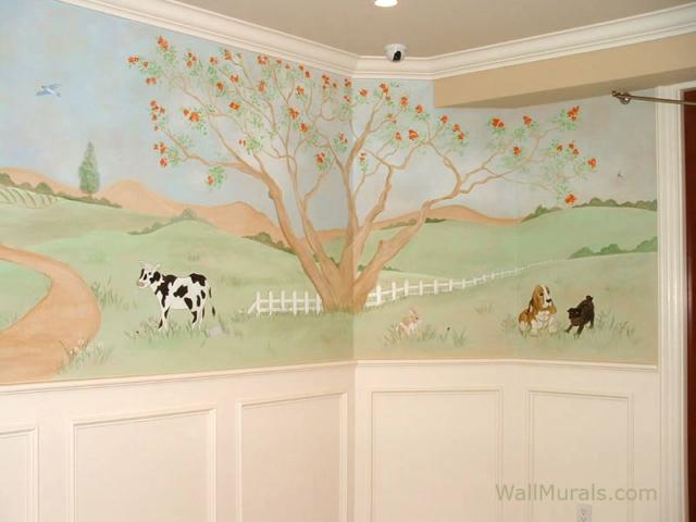 Farm Mural in Baby Room