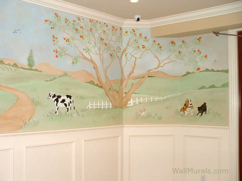 Farm Mural In Baby Room Part 41