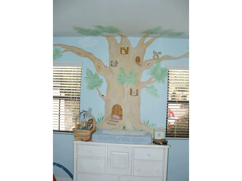 Tree Wall Mural in Nursery
