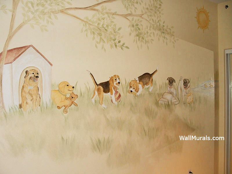 Dog Mural in Nursery