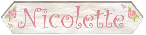 SMALL Length - Rose Sign (18x4.5)