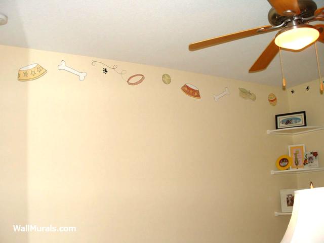 Dog Theme Wall Border in Baby Nursery