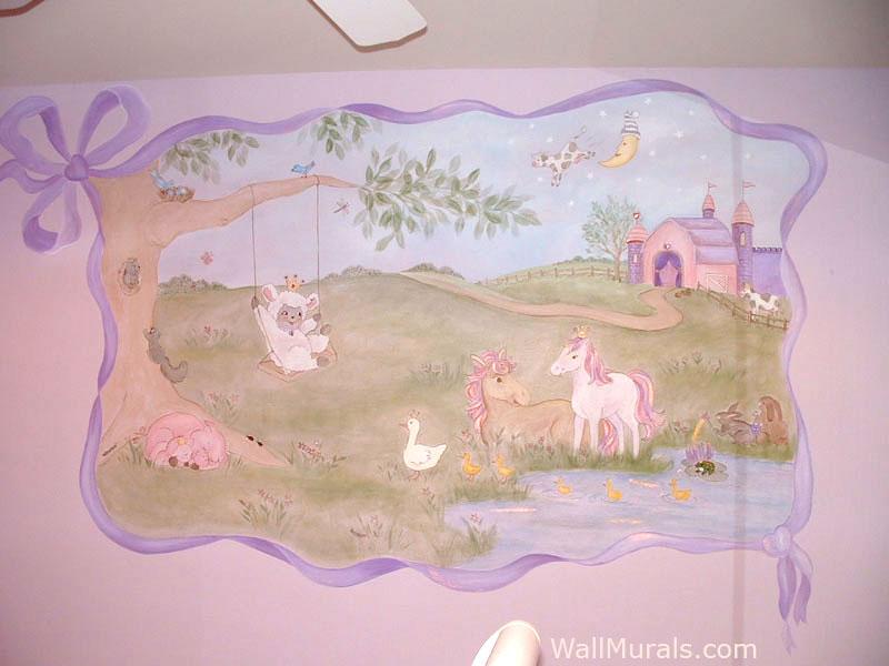 Enchanted Farm Wall Mural in Nursery
