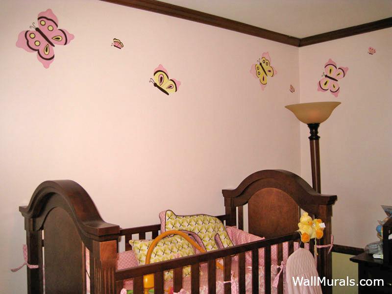 Butterfly Mural in Nursery