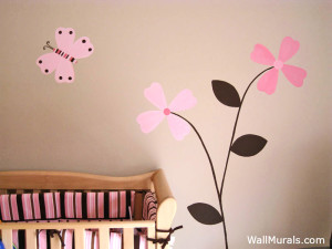 Baby Girl Nursery Mural
