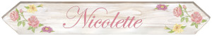 LARGE Length Flower Sign Wall Decals (30x5)