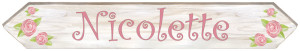 LARGE Length - Rose Sign (30x5)