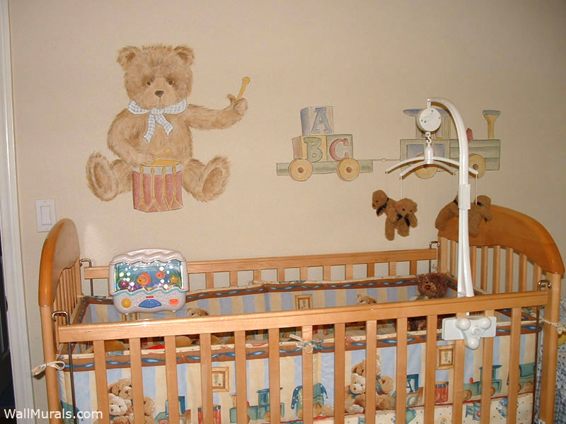 Teddy Bear Mural in Nursery