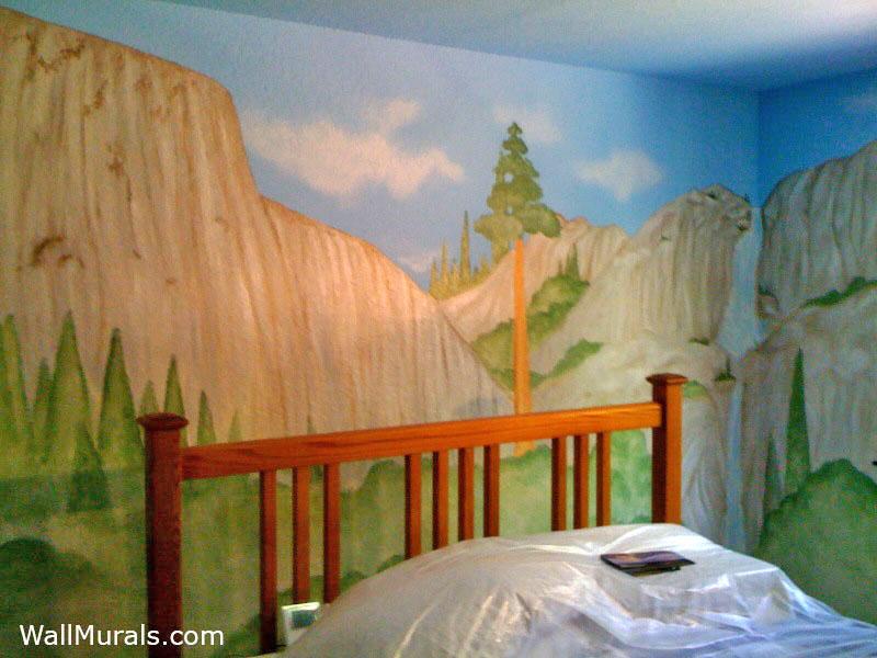 Monument Waterfall Mural - Boys Room