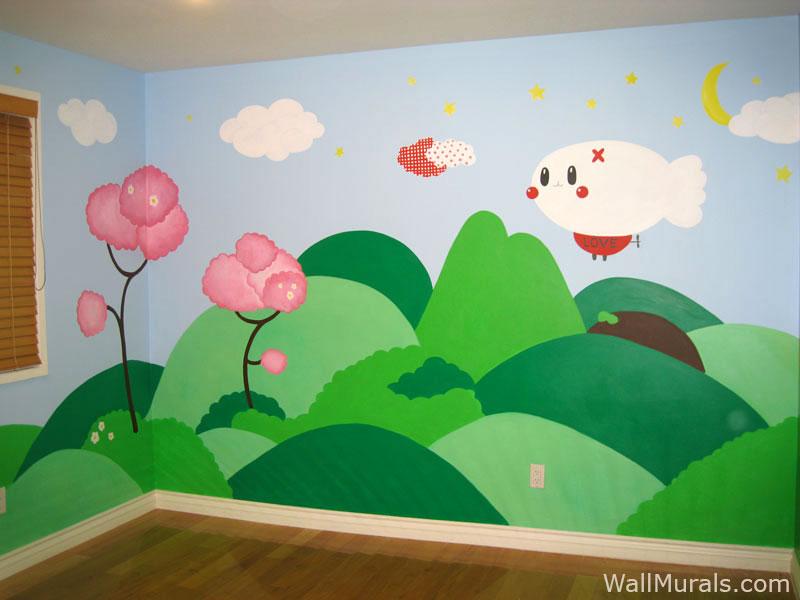 Super Mario Mural · Brown Ribbon Wall Mural In Baby Room Part 94