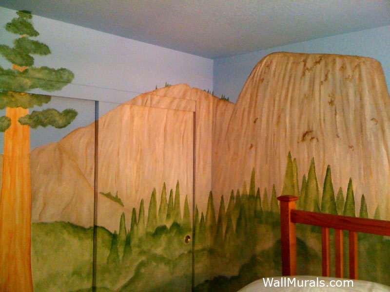 Yosemite Park Wall Mural - Boys Bedroom