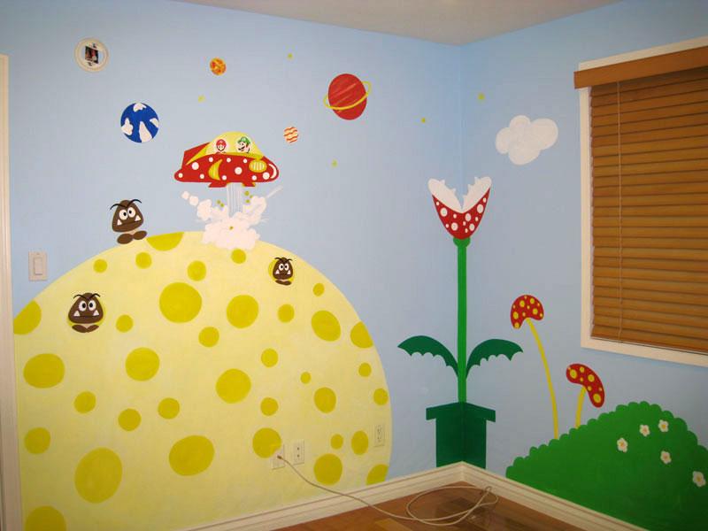 Super Mario Brother's Wall Mural - Boys Bedroom
