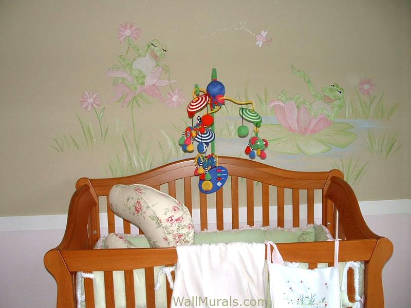 Frog Wall Mural in Baby Room