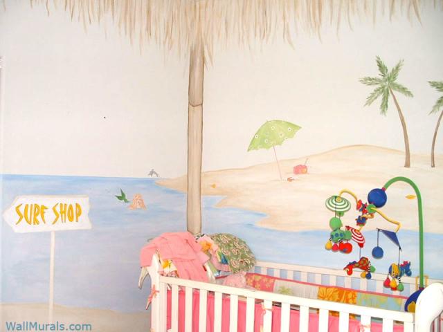 Ocean Wall Mural in Nursery
