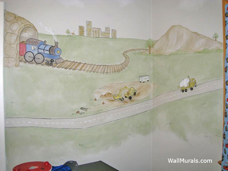Train Wall Mural - Boys Room